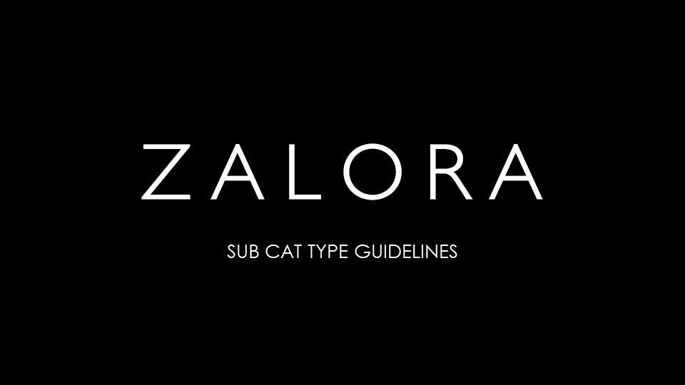 Sub-Categories Guidelines
