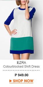 Colourblocked Shift Dress