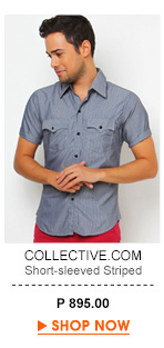 Short-sleeved Striped Button-down Shirt
