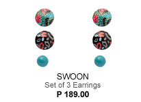 Swoon Set of 3 Earrings