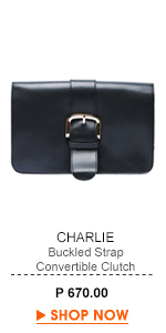 Buckled Strap Convertible Clutch