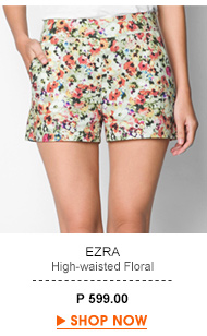 High-waisted Floral